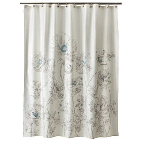floral shower curtain target threshold floral shower curtain aqua decor ideas