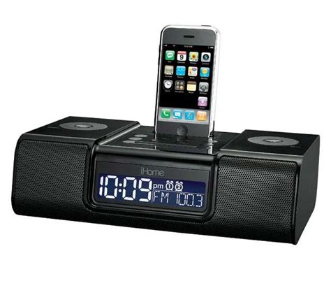ihome ip9 speaker dock with clock radio for
