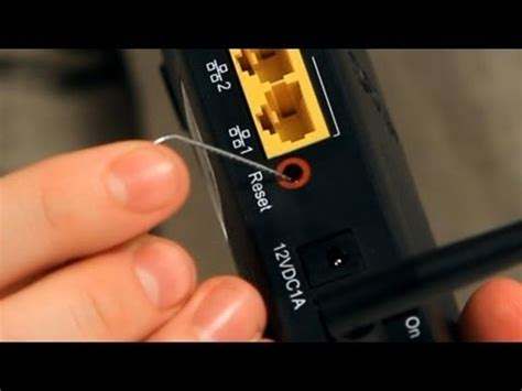 reset router online how to reset a router internet setup youtube