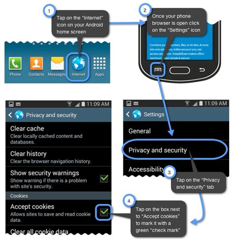 how to enable cookies on android how do i enable cookies on my mobile browser keep support support portal