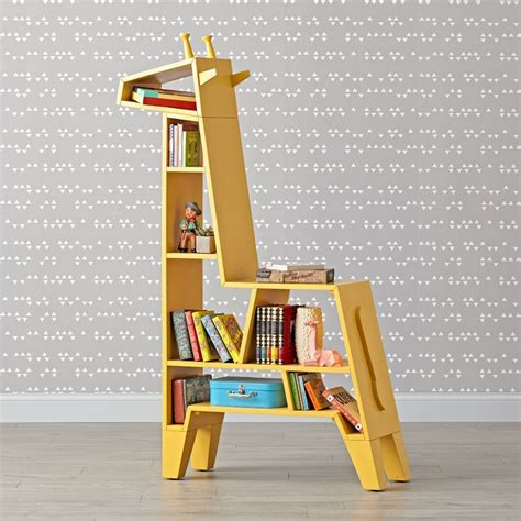 childrens desk and bookshelves yellow giraffe bookcase to decorate your bedroom