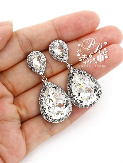 Strass Ohrringe Hochzeit by Wedding Earrings Swarovski Rhinestone Earrings