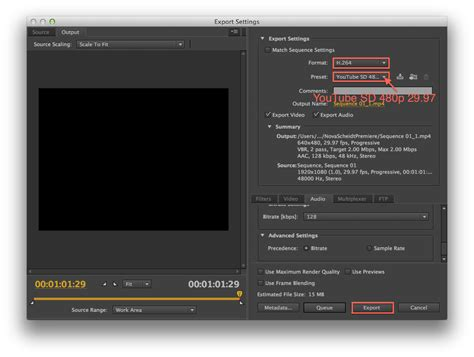 export adobe premiere mp4 cs 325 and film 385 premiere pro