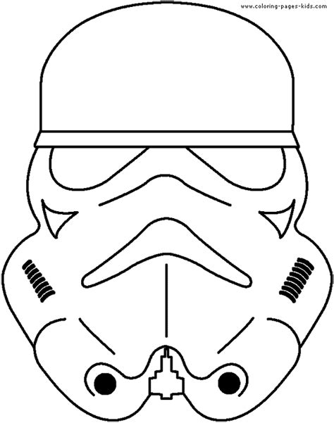 cartoon coloring pages star wars free coloring pages of storm trooper mask