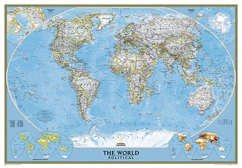 Classic World Map Mural Maps - world classic mural world reference maps wall maps
