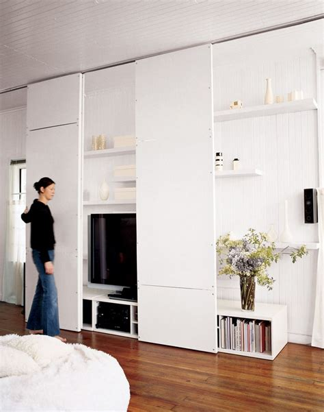 hidden tv with doors hide tv behind rolling doors gt how to make your tv