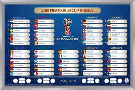Calendrier Du Mondial 2018 Pre Commande Fifa Coupe Du Monde 2018 Tableau
