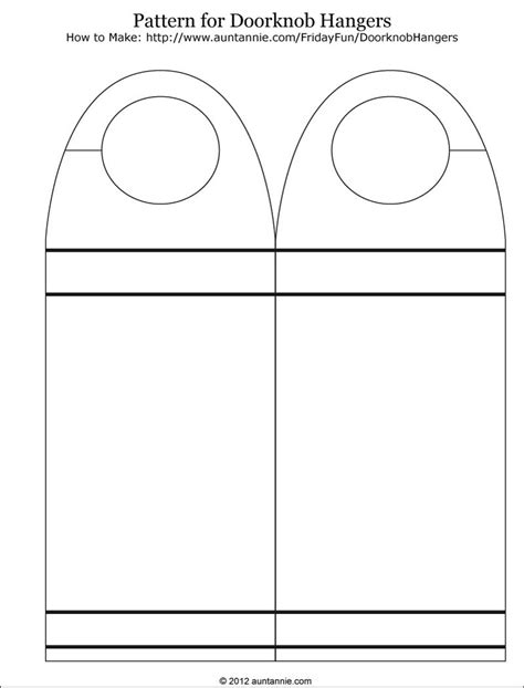 door knob template 7 best images of free printable door hanger pattern free