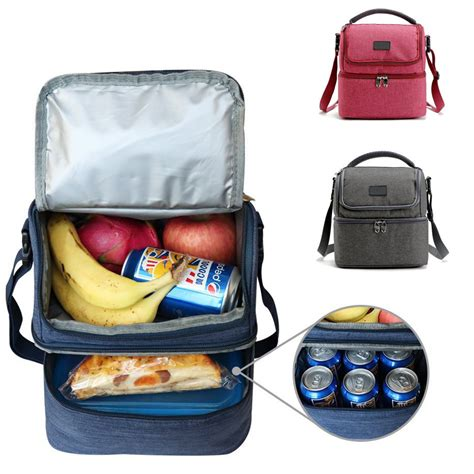 Souvenir Lunch Bag Decker 9 insulated decker cooler lunch bag with removable shoulder picnic bag tote handbag