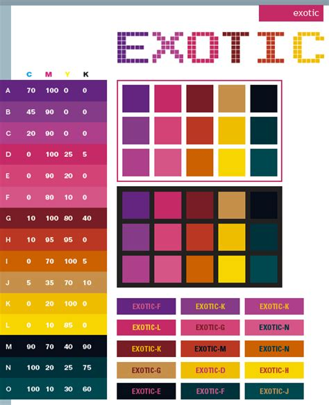 creative color schemes exotic color schemes color combinations color palettes