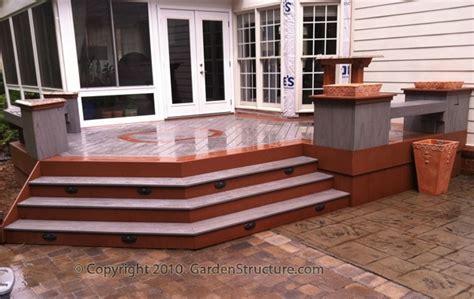 deck to patio transition deck to patio transition a home landscape ideas
