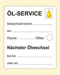 Aufkleber Drucken Nicht Abl Sbar by 300 Serviceaufkleber 214 Lwechsel 214 L Service 59 X 50 Mm
