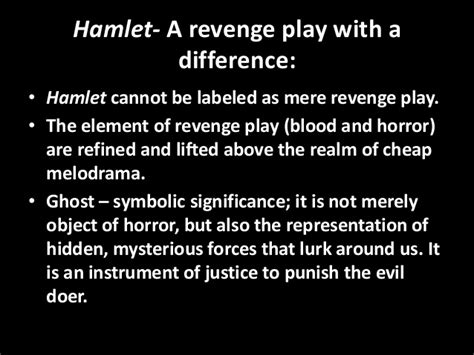 revenge and justice themes in hamlet hamlet as a revenge play