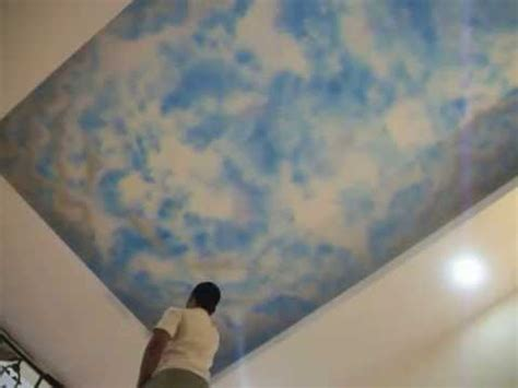 Sky On Ceiling by How To Do Ceiling Sky Spray Paintings