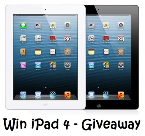 Free Apple Ipads Giveaway - win ipad 4 contest images 2623 techotv