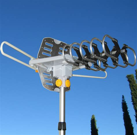 150miles outdoor tv antenna motorized lified hdtv high gain 36db uhf vhf ebay