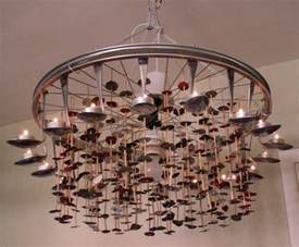 Bicycle Chandelier Chandelier Of Spoons