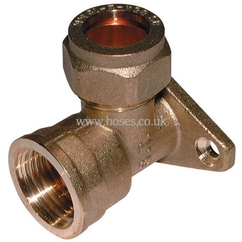 bspp wall plate metric brass plumbing compression