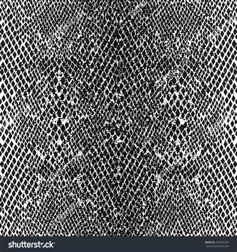 snake pattern black and white seamless pattern structure snake skin black stock vector