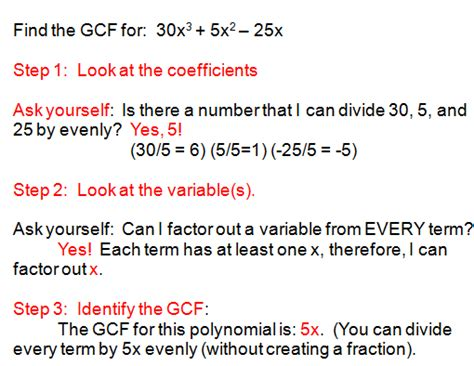 Factor The Common Factor Out Of Each Expression Worksheet by Factoring Polynomials Using Gcf