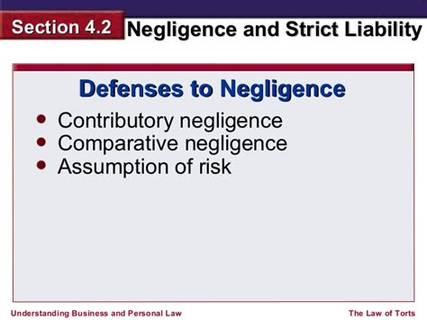 section 18 liability 2 chapter 4 2 negligence and strict liability ppt