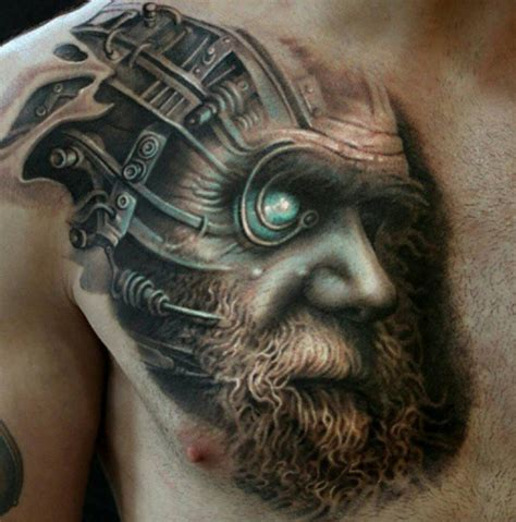 charles darwin amp cyborg morph best tattoo design ideas
