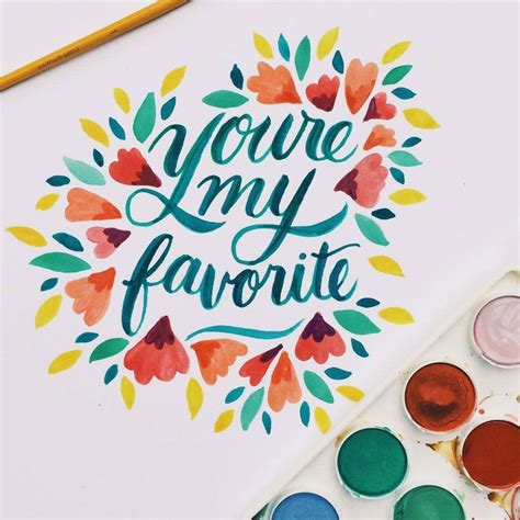watercolour quotes tutorial watercolor typography collection on behance lettering