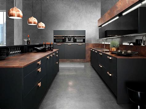 decorating a kitchen with copper modern kitchen in black and gray copper ls ideas and