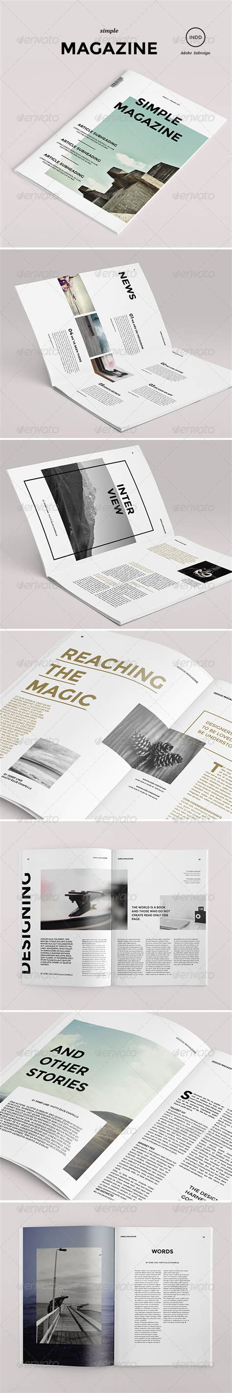 simple magazine template simple magazine graphicriver