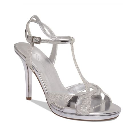 macys shoes reilly evening sandals a macys exclusive in silver lyst