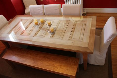 turning an old door into a dining room table diy repurpose doors louisville restore