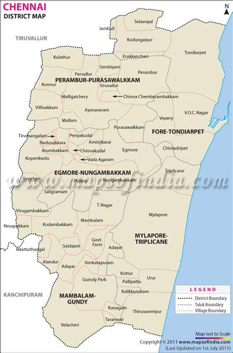 chennai district map
