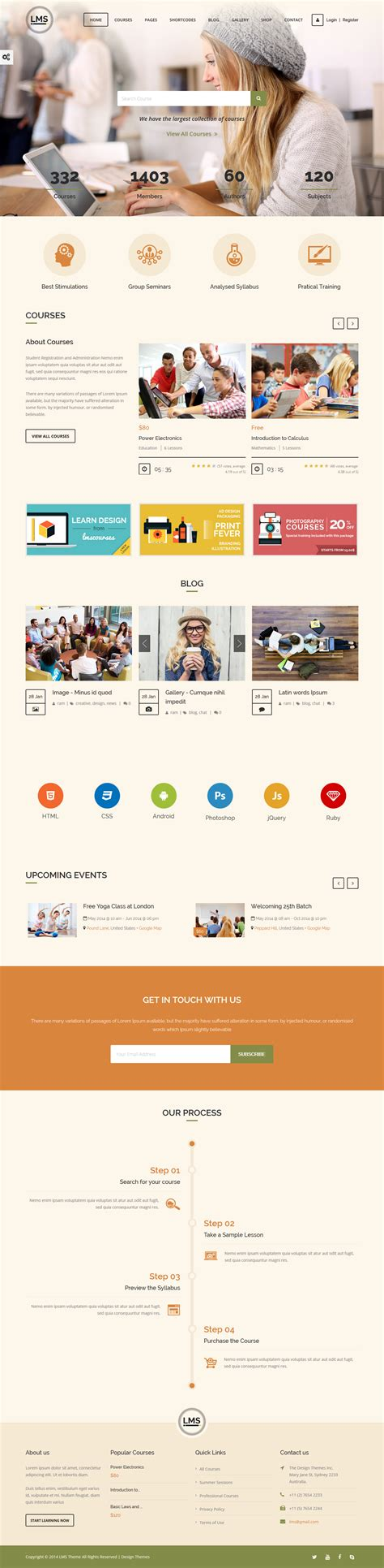 theme wordpress free lms lms a premium education wordpress theme free download