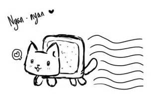 nyan cat coloring pages nyan nyan cat by sushimeow on deviantart