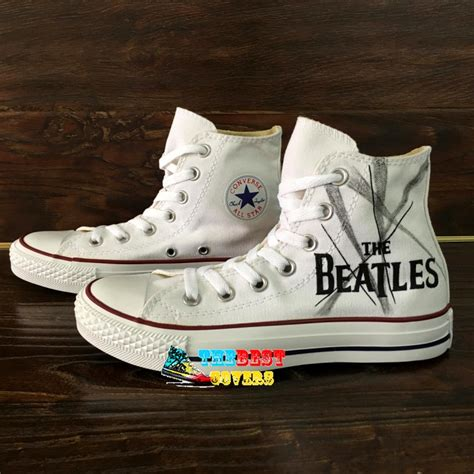 beatles sneakers beatles 2 converse all painted shoes