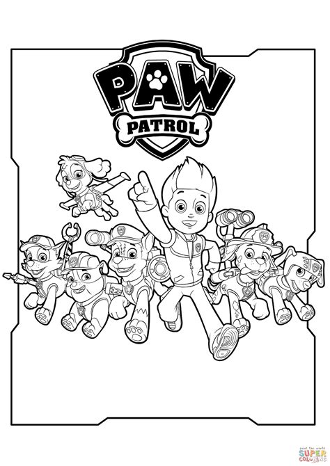 coloring pages paw patrol free printable paw patrol coloring pages coloring home