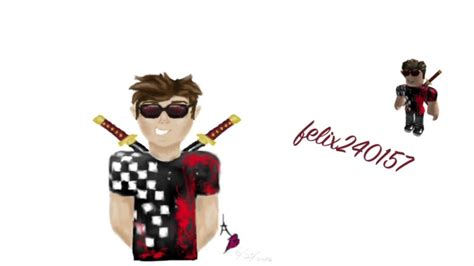 Sketches Roblox Character by Drawing Of Roblox Character Felix240157