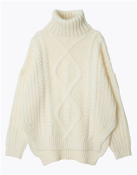 Cable Knit Sweater chunky cable knit turtleneck sweater sweater grey