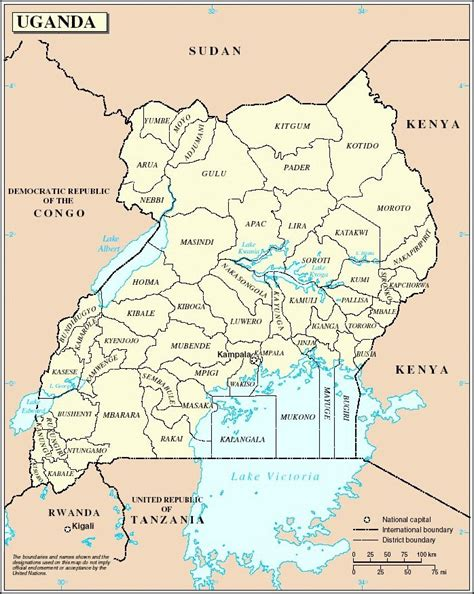 map of uganda uganda map