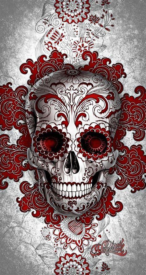 digoil renowned floral sugar skull red skull tattoos