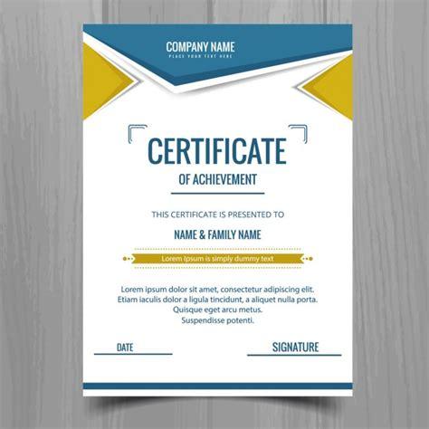 graphic design certificate denver modelo de certificado colorido baixar vetores gr 225 tis