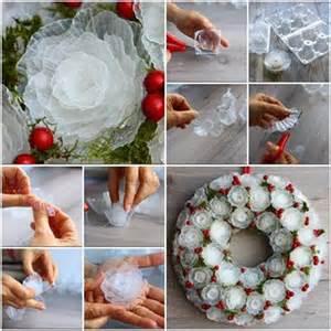 Alcohol Ink Christmas Ornaments - navidad eco c 243 mo hacer una corona de navidad con envases de pl 225 stico de los huevos objectbis