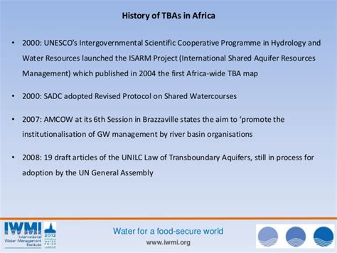 Trans Boundaries Financial Casein International Forum transboundary aquifer mapping and management in africa a harmonised