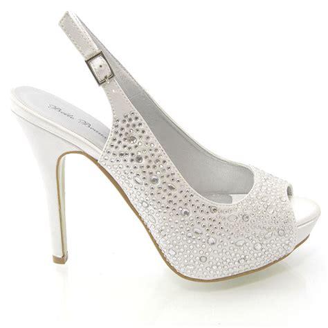 Dressy Wedge Heels For Wedding by Diamante Sandals Womens Dressy Peep Toe Heels