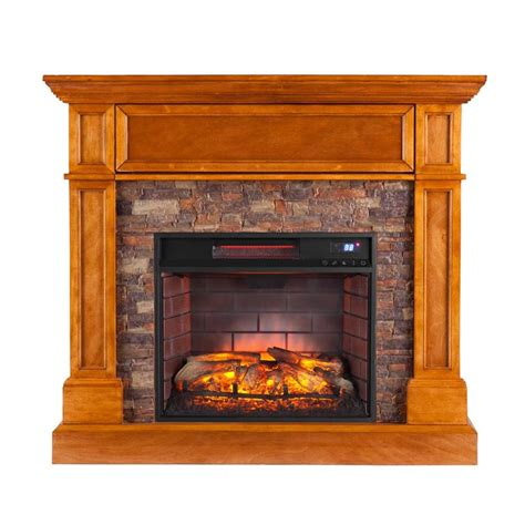 Southern Fireplaces by Southern Enterprises Rosedale Infrared Media Fireplace In