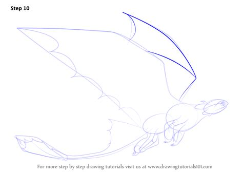 learn how to draw toothless flying from how to your how to your step