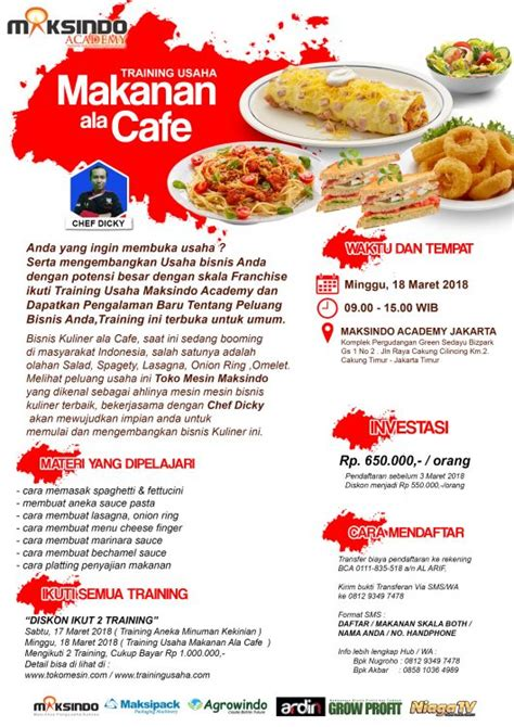 cara membuat makanan ringan ala cafe training usaha makanan ala cafe 18 maret 2018 toko