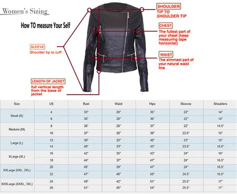 large jacket size measurement chart for www imgkid the image kid has it