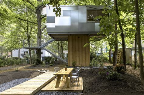 Octagon Home Plans by Gallery Of Urban Treehouse Baumraum 5