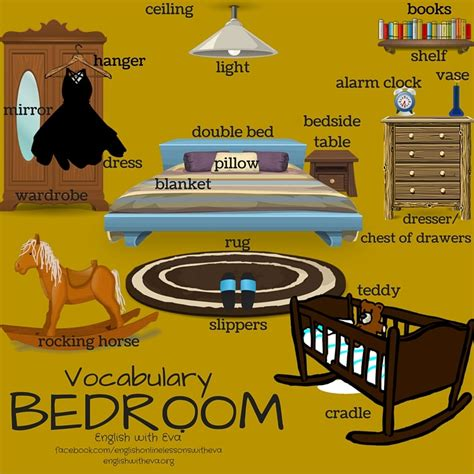 bedroom vocabulary english vocabulary bedroom esl efl english vocabulary furniture bedroom english with